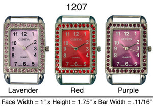 6 Rectangle Style Solid Bar Watch Faces