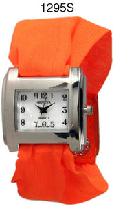 6 Geneva Cloth Band Snap Watches