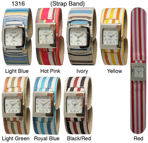 12 Slap Watches with Stripes