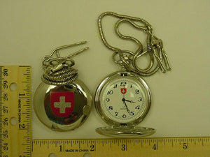 "12 Silver ""Cross Painted"" Pocket Watches"