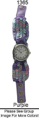 Load image into Gallery viewer, 12 Geneva Sequin Snap Watches