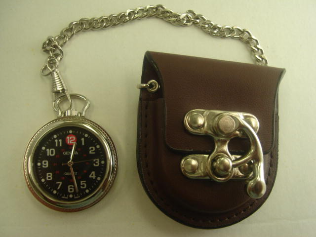 12 Brown Leather Pocket Watches