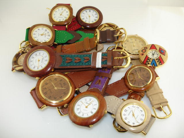 50 Assorted Wood Watches
