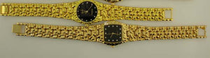12 Mens Gold tone Nugget Watches