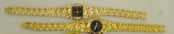 12 Womens Gold Tone Nugget Watches