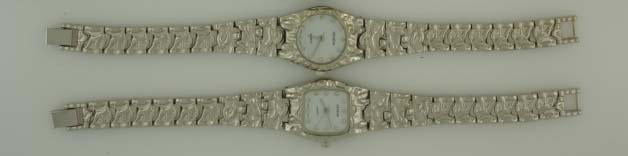 12 Silver Tone Nugget Watches