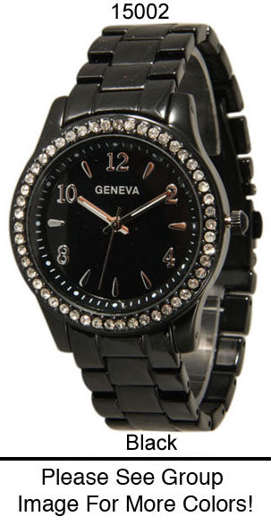 6 Geneva Women's Closed Band Watches
