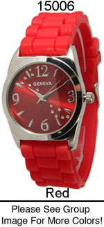 Load image into Gallery viewer, 6 Geneva Silicone Strap Band Watches