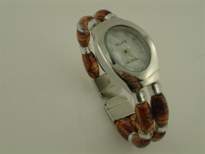 12 Wood Beaded Bangle