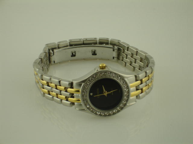 6 Womens Two Tone Metal band watch