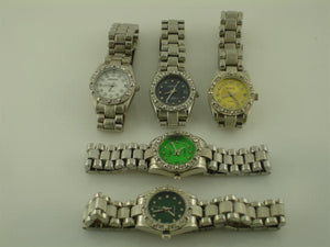 6 Womens Silver Metal Band Watch