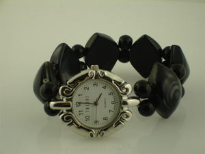 6 Stretch Agate Stone Bead Watches