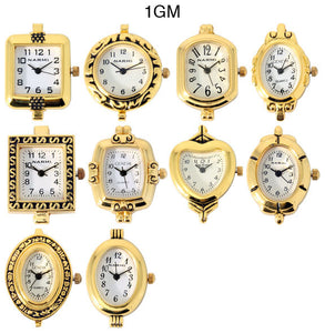 50 Gold Tone Beading Watch Faces