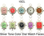 Load image into Gallery viewer, 50 Silver Tone Loop Color Dial Watch Faces