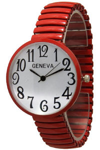 6 Geneva Stretch Band Watch