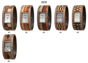 6 Geneva copper with wood inlay cuffs