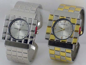 6 womens metal cuff watches
