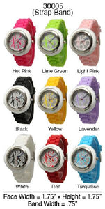 6 Geneva Strap Band Watches