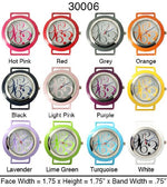 Load image into Gallery viewer, 6 Solid Bar Watch Faces/w Glitter Face