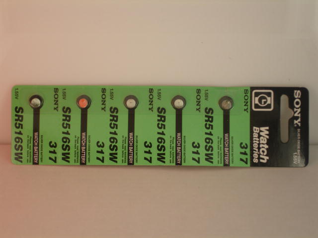 5 Pieces of 317s Sony Silver Oxide Battery