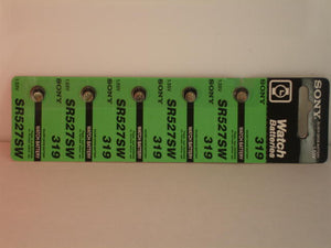 5 Pieces of 319s Sony Silver Oxide Battery