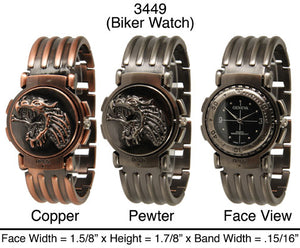 6 Men's Biker Style Watches