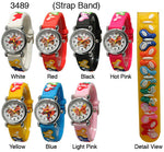 Load image into Gallery viewer, 6 plastic band butterfly watches