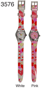 Plastic band heart watches