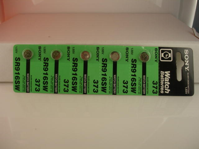 5 Pieces of 373s Sony Silver Oxide Battery
