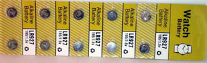 10 Alkaline Watch Batteries (LR927)