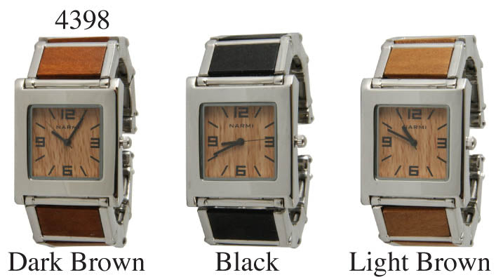 6 Wooden Cuff Watches