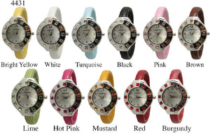 6 Geneva Women's Snake Print Watch