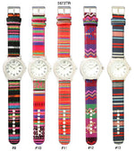 Load image into Gallery viewer, 6 Geneva Tribal Print Watches