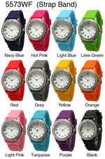 Load image into Gallery viewer, 6 Geneva Silicone Style Watches