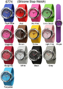 6 Geneva Silicone Slap Watches