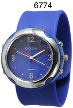 Load image into Gallery viewer, 6 Geneva Silicone Slap Watches