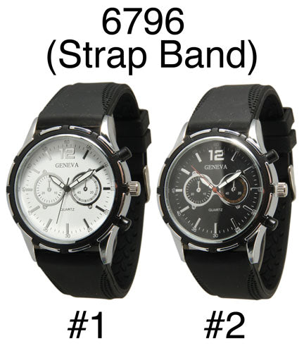 6 Silicone Strap Band Watches