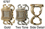 Load image into Gallery viewer, 6 Geneva Womens cuff bangles