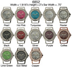 Load image into Gallery viewer, 6 Narmi solid bar watch faces w/rhinestones