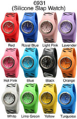 Load image into Gallery viewer, 6 Geneva Silicone Slap Band Watches