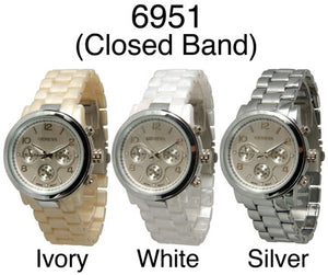 6 Women's Closed Band Watches