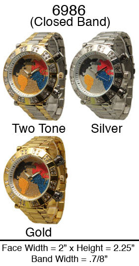 6 Mens Closed Band Watches