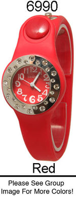 Load image into Gallery viewer, 6 Geneva Silicone Snap On Watches