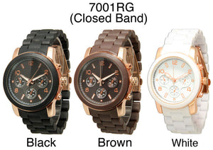 6 Woman Closed Band Watches