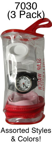 6 Silicone Slap Watch Multi Packs
