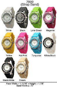 6 Narmi Silicone Strap Band Watches