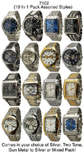 10 Assorted Closed Band Watches