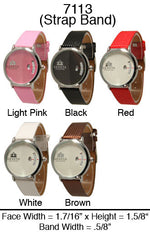 Load image into Gallery viewer, 6 Geneva Women's Leather Band Watches