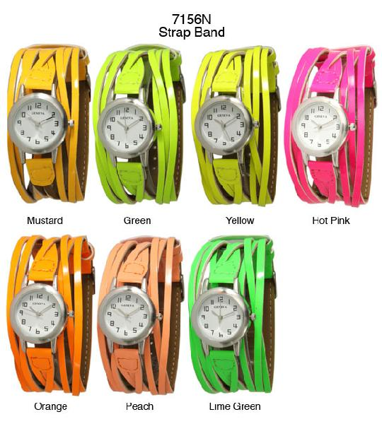 6 Woven Strap Band Watches