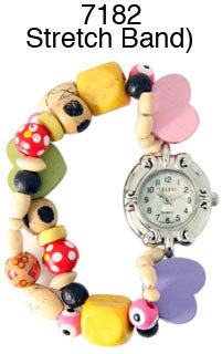 6 womens beaded watches